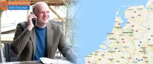 zzp-boekhouder amsterdam - werkplekken en servicegebied met kaart van nederland